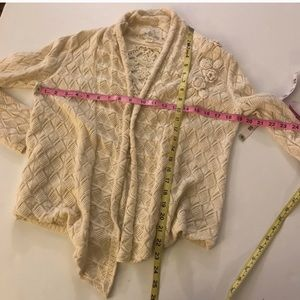 Anthropologie Sweaters - Angel of the North crochet cardigan